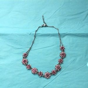 Beautiful Pink Rose Avon Necklace
